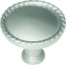 Belwith P403 Round Design Knob, dia. 1-1/2, Satin Nickel, Annapolis