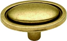 Hickory Hardware P405-LP Oval Knob, Length 1, Lancaster Brass, Manor House