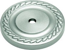 "Annapolis Backplate 1-1/2"" Dia Satin Nickel Belwith P406"