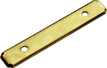 "Manor House Backplate 3"" Center to Center Lancaster Brass Hand Polished Hickory Hardware P513-LP"