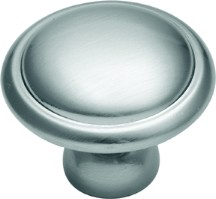 Belwith P516-SC, Belwith Round Ring Knob, dia. 1-1/4, Satin Silver Cloud, Tranquility Series