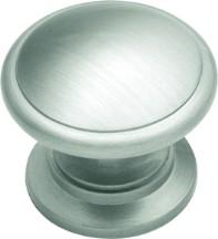 Belwith K444 Round Ring Knob, dia. 1-1/4, Satin Nickel, Power & Beauty Series