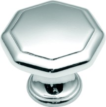 "Conquest Knob 1-1/8"" Dia Polished Chrome Hickory Hardware P14004-26"
