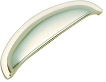 Belwith K407 Cup/ Bin Handle, Centers 3in, Satin Nickel, Power & Beauty Series