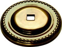 "Savannah Backplate 1-1/2"" Dia Sherwood Antique Brass Belwith P144"