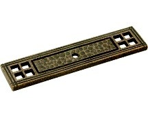 Belwith M74 Backplate for Knob, Length 4-1/4, Satin Bronze, Kingston
