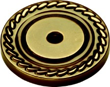 "Annapolis Backplate 1-1/2"" Dia Antique Brass Belwith P106"