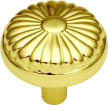 Hickory Hardware P211-UB Round Design Knob, dia. 1-1/4, Ultra Brass, Eclipse