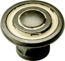 Hickory Hardware P2011-BYA Round Design Knob, dia. 1-3/8, Biscayne Antique, Manchester