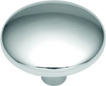 Hickory Hardware P213-26 Round Plain Knob, dia. 1-1/8, Polished Chrome, Sunnyside Series