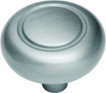 Hickory Hardware P209-CLX Round Ring Knob, dia. 1-1/4, Chromulux, Eclipse