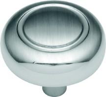 Hickory Hardware P209-SC Round Ring Knob, dia. 1-1/4, Satin Chrome, Eclipse