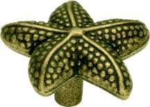 Belwith PA0111-AM Theme Knob Starfish, Length 1-1/2, Antique Mist, Treasures of the South Sea