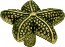 Hickory Hardware PA0111-AM Theme Knob Starfish, Length 1-1/2, Antique Mist, Treasures of the South Sea