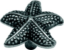 Hickory Hardware PA0111-VP Starfish Knob, Length 1-1/2, Vibra Pewter, South Seas