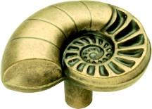 Belwith PA0114-AM Theme Knob Nautilus Shell, Length 1-1/2, Antique Mist, South Seas