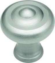 Belwith A403 Round Design Knob, dia. 1-1/4, Satin Nickel, Sechel