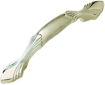 Belwith P345-SC, Belwith Footed Handle, Centers 3in, Satin Silver, Modern Bungalow