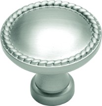 Belwith P402 Round Design Knob, dia. 1-1/4, Satin Nickel, Annapolis