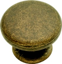 Hickory Hardware PA1216-WOA Round Plain Knob, dia. 1-1/4, Windover Antique, Oxford Antique Series