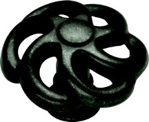 Belwith PA1311-BI Round Design Knob, dia. 1-1/2, Black Iron, Charleston Blacksmith