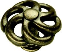 Belwith PA1311-WOA Round Design Knob, dia. 1-1/2, Windover Antique, Charleston Blacksmith