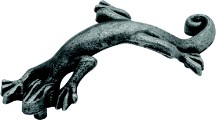 Hickory Hardware PA1522-VP Theme Handle Lizard, Centers 3in, Vibra Pewter, Rainforest