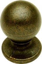 Hickory Hardware PA1211-WOA Round Plain Knob, dia. 3/4, Antique Brass, Vintage Antiquities