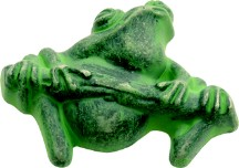 Hickory Hardware PA1511-VG Theme Knob Frog, Length 1-1/4, Verde Gris, Rainforest