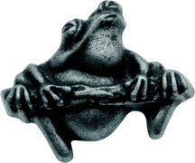 Belwith PA1511-VP Theme Knob Frog, Length 1-1/4, Vibra Pewter, Rainforest