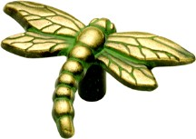 Belwith PA1512-VA Theme Knob Dragonfly, Length 1-1/2, Verde Antique, Rainforest