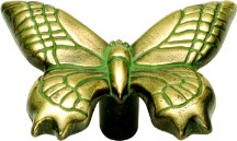 Hickory Hardware PA1513-VA Theme Knob Butterfly, Length 1-1/2, Verde Antique, Rainforest