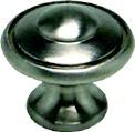 Berenson 2920-1BPN-P Round Ring Knob, dia. 1-3/16, Polished Nickel, Euro Traditions