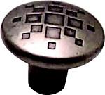 Berenson 7115-1RN-C Round Design Knob, dia. 1-5/16, Rustic Nickel, Overture Series