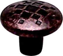 Berenson 7117-1RC-C Round Design Knob, dia. 1-5/16, Rustic Copper, Overture Series