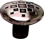 Berenson 7118-1RBN-C Round Design Knob, dia. 1-5/16, Rustic Black, Overture Series