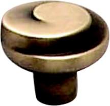Berenson 7126-1RAB-C Round Design Knob, dia. 1-3/16, Rustic Antique Brass, Sonata