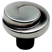 Berenson 7130-1RBN-C Round Design Knob, dia. 1-3/16, Rustic Black Nickel, Sonata