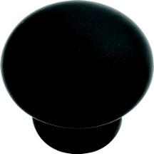 Hickory Hardware P2816-MB Round Plain Knob, 5/8 dia., Matte Black, Modus
