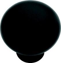 Hickory Hardware PA1218-MB Round Plain Knob, dia. 1-1/4, Matte Black, Modus