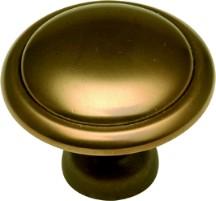 "Conquest Knob 1-3/8"" Dia Veneti Bronze Hickory Hardware P14848-VBZ"
