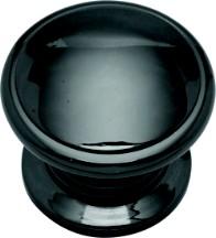 Belwith K44-BLN Round Ring Knob, dia. 1-1/4, Black Nickel, Power & Beauty Series