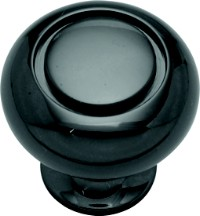 Belwith K19-BLN Round Ring Knob, dia. 1-1/4, Black Nickel, Power & Beauty Series