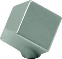 Hickory Hardware P2160-SN Square Knob, dia. 1-1/2, Satin Nickel, Euro-Contemporary