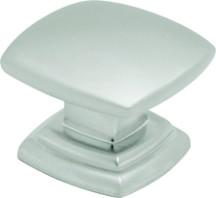 Hickory Hardware P2163-PN Square Knob, dia. 1-1/2, Pearl Nickel, Euro-Contemporary