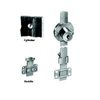 CompX D8090-C415A-14A, Disc Tumbler Gang Lock, Multiple Drawer Application, Cylinder Length 15/16, Bar Travel 11/32, Keyed #415, Bright Nickel