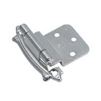 Amerock BP7328G9, Face Mount Self-Closing Hinge, 3/8 Inset, Carriage House Design, Sterling Nickel