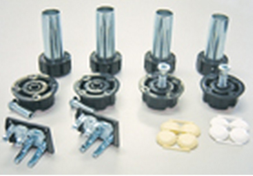 "Metal Cabinet Leveler Set with Height Adjustment 4"" H Peter Meier 400-024B"
