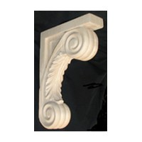 CVH International B-SCR-RW, Machine Carved Wood Corbel, Acanthus Collection, 2-1/2 W x 9 D x 13 H, Rubberwood