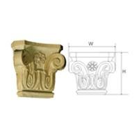 CVH International CAPITAL#1-4-O, Hand Carved Wood 5-3/4 H Capital, Corinthian Collection, Oak